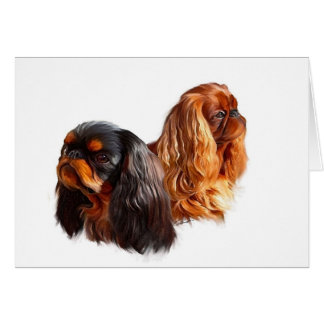English Toy Spaniel Card