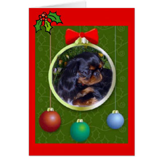 English Toy Spaniel Christmas Card
