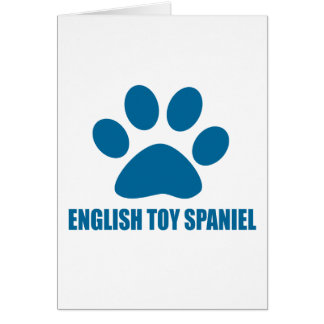 ENGLISH TOY SPANIEL DOG DESIGNS CARD