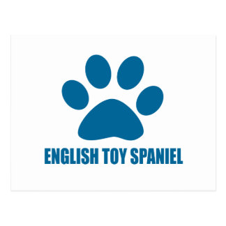 ENGLISH TOY SPANIEL DOG DESIGNS POSTCARD
