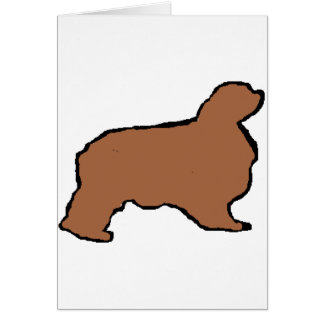 english toy spaniel ruby silo card