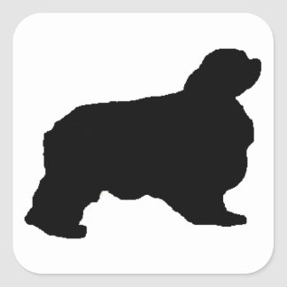 english toy spaniel silo square sticker