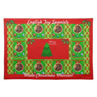 English Toy Spaniels Make Christmas Merrier Place Mat