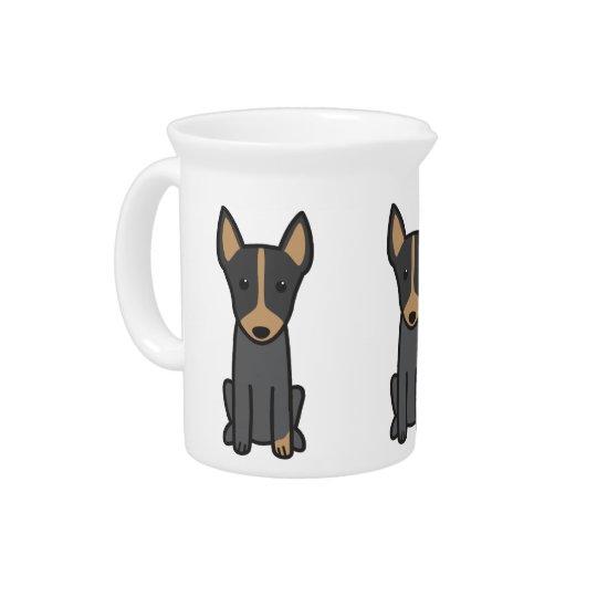 English Toy Terrier Dog Cartoon Pitcher