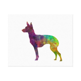 English Toy Terrier in watercolor Canvas Print