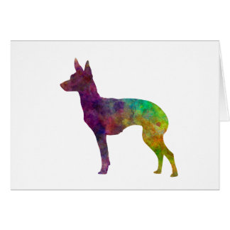English Toy Terrier in watercolor Card