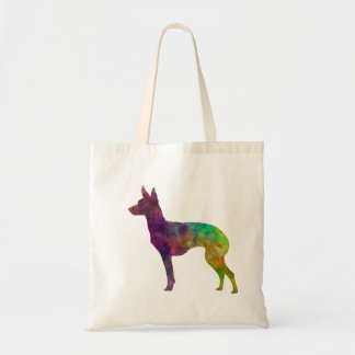 English Toy Terrier in watercolor Tote Bag