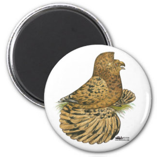 English Trumpeter Almond 2 Inch Round Magnet