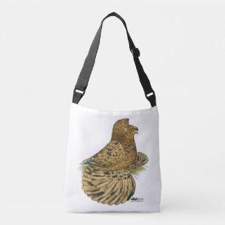 English Trumpeter Almond Crossbody Bag