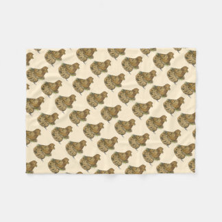 English Trumpeter Almond Fleece Blanket