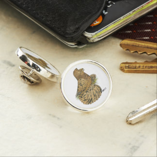 English Trumpeter Almond Lapel Pin