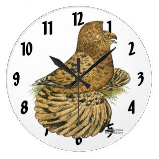 English Trumpeter Almond Large Clock