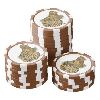 English Trumpeter Almond Poker Chips