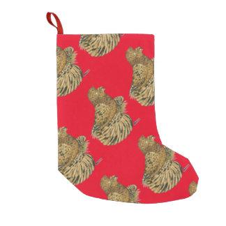 English Trumpeter Almond Small Christmas Stocking