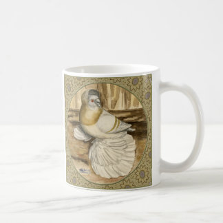 English Trumpeter Gold Frame Classic White Coffee Mug