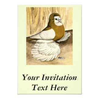 English Trumpeter Yellow Magpie Card