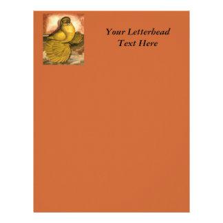 English Trumpeter Yellow Self Custom Letterhead