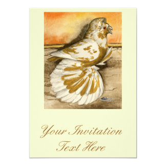 English Trumpeter Yellow Splash Card