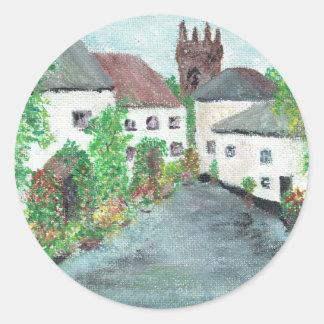 English Village Classic Round Sticker