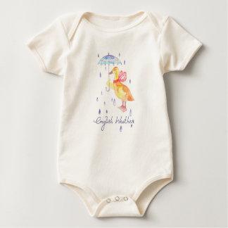 """English Weather"" Baby organic bodysuit"
