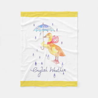 """English Weather"" Fleece Blanket"
