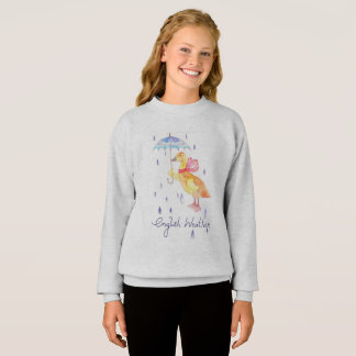 """English Weather"" Girls' ComfortBlend® sweatshirt"