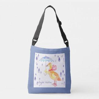 """English Weather"" Kids Body Bag Blue Grey"