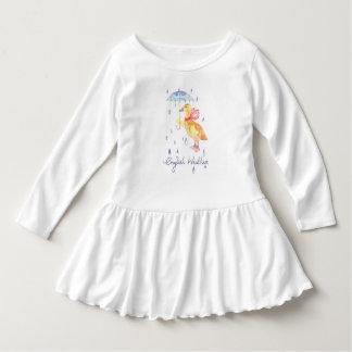 """English Weather"" Toddler ruffle dress"