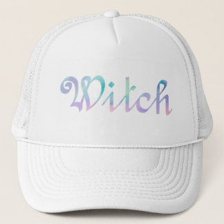 English WITCH in Watercolor Trucker Hat