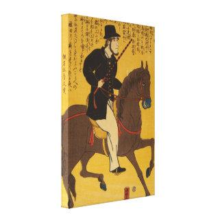 Englishman Riding Horseback circa 1861 Vintage Canvas Print