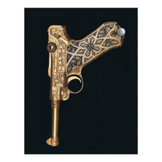 Engraved Antique Gun Collector Customized Letterhead