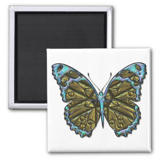 Engraved Butterfly 3 Magnet