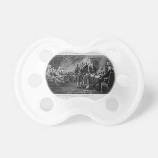 Engraved Declaration of Independence John Trumbull Baby Pacifier