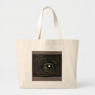 Engraved Eye Large Tote Bag