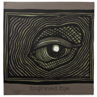 Engraved Eye Napkin