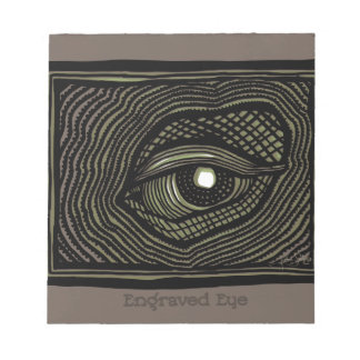 Engraved Eye Notepad