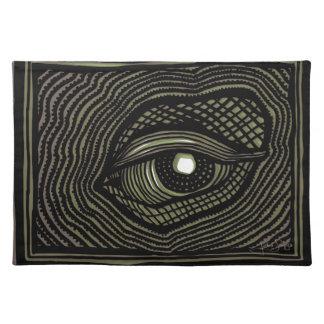 Engraved Eye Placemat
