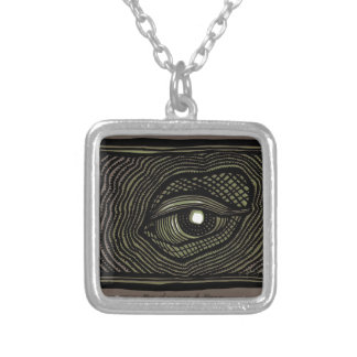 Engraved Eye Silver Plated Necklace