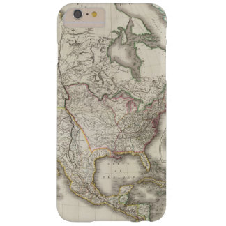 Engraved Map of North America Barely There iPhone 6 Plus Case