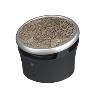 Engraved map of Rhine River Valley Bluetooth Speaker
