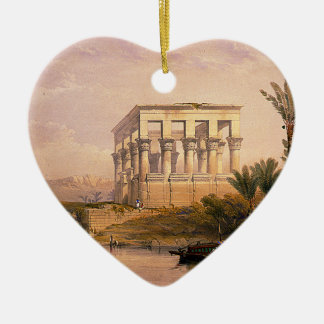 Engraved on stone by Louis Haghe Ceramic Heart Ornament