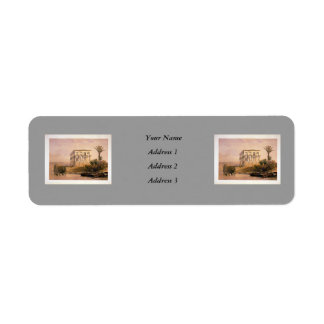 Engraved on stone by Louis Haghe Return Address Label