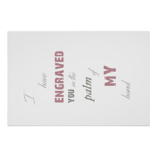 Engraved you Print
