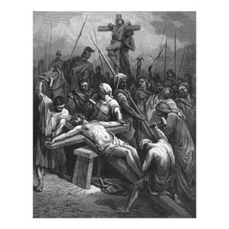 Engraving Jesus Crucifixion 1866 by Gustave Dore Photo Print