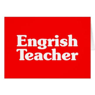 Engrish Teacher Card