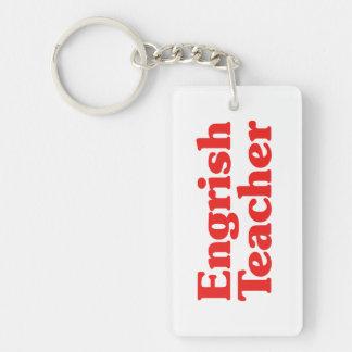 Engrish Teacher Double-Sided Rectangular Acrylic Keychain