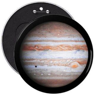 ENHANCED image of Jupiter Cassini flyby NASA 6 Inch Round Button