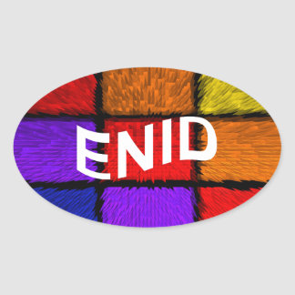 ENID OVAL STICKER