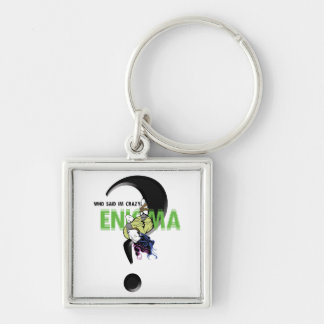 Enigma phone covers Silver-Colored square keychain