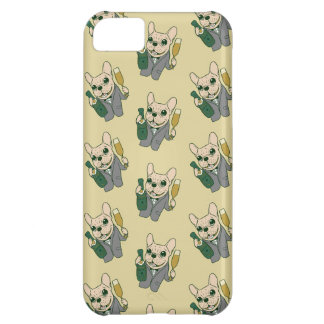Enjoy Champagne with Frenchie at Your Celebration Cover For iPhone 5C